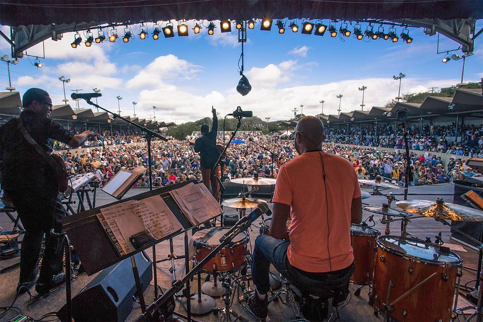 Stage view at the Monterey Jazz Festival