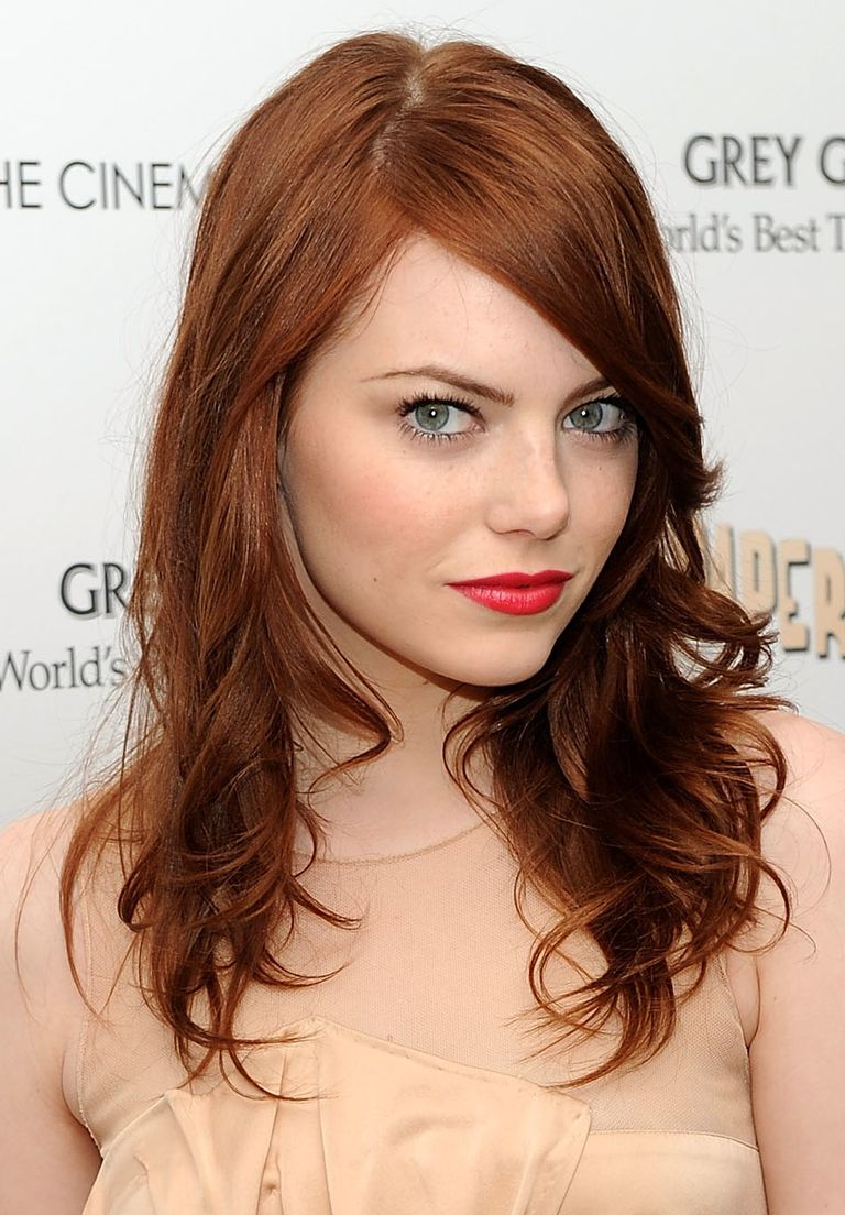 10 amazing examples of blonde brown and red hairstyles emma stones gorgeous auburn locks pmusecretfo Images