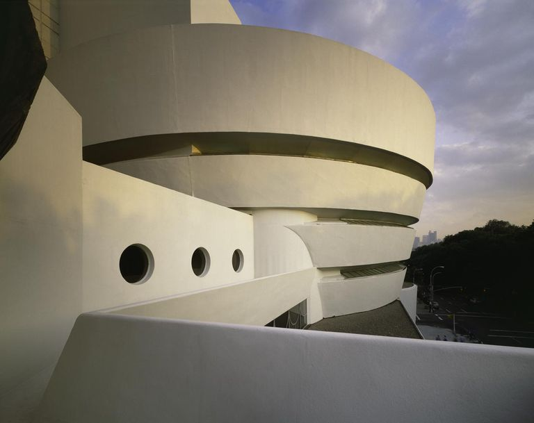 Many years went into designing the Solomon R. Guggenheim Museum by Frank Lloyd Wright