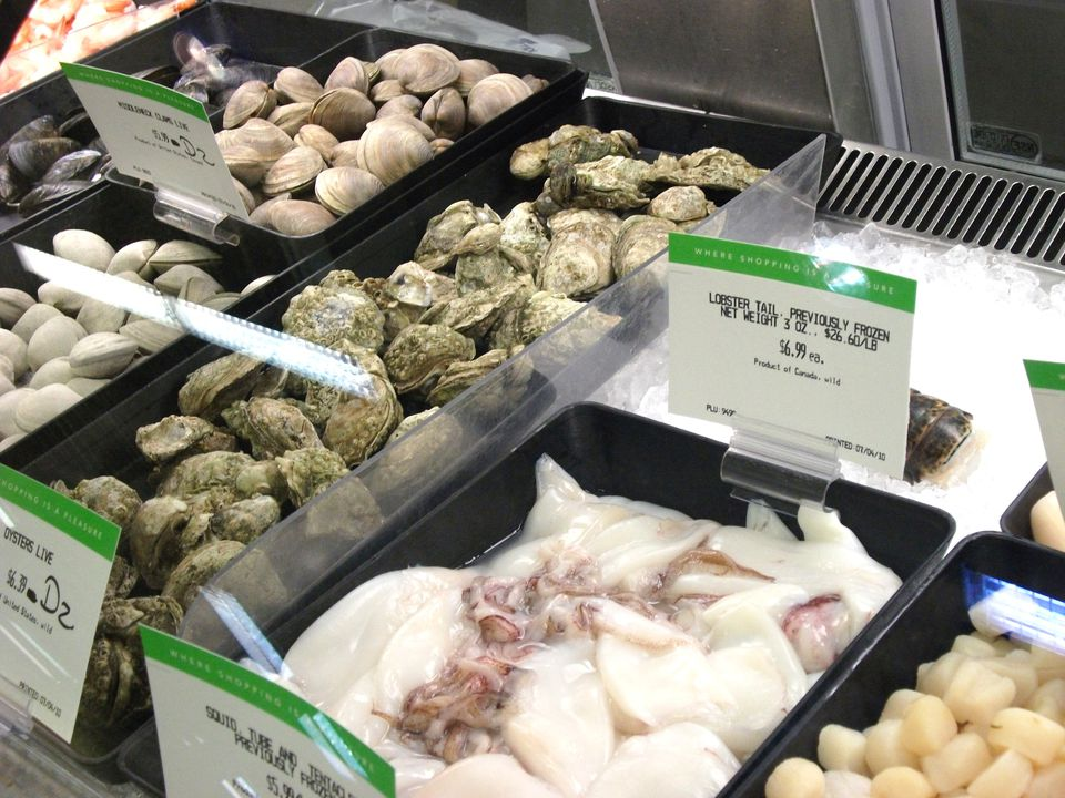 Supermarket Seafood Case
