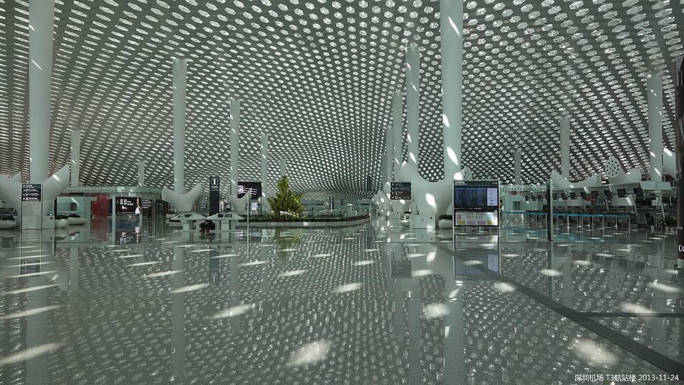Terminal three of Shenzhen International Airport.