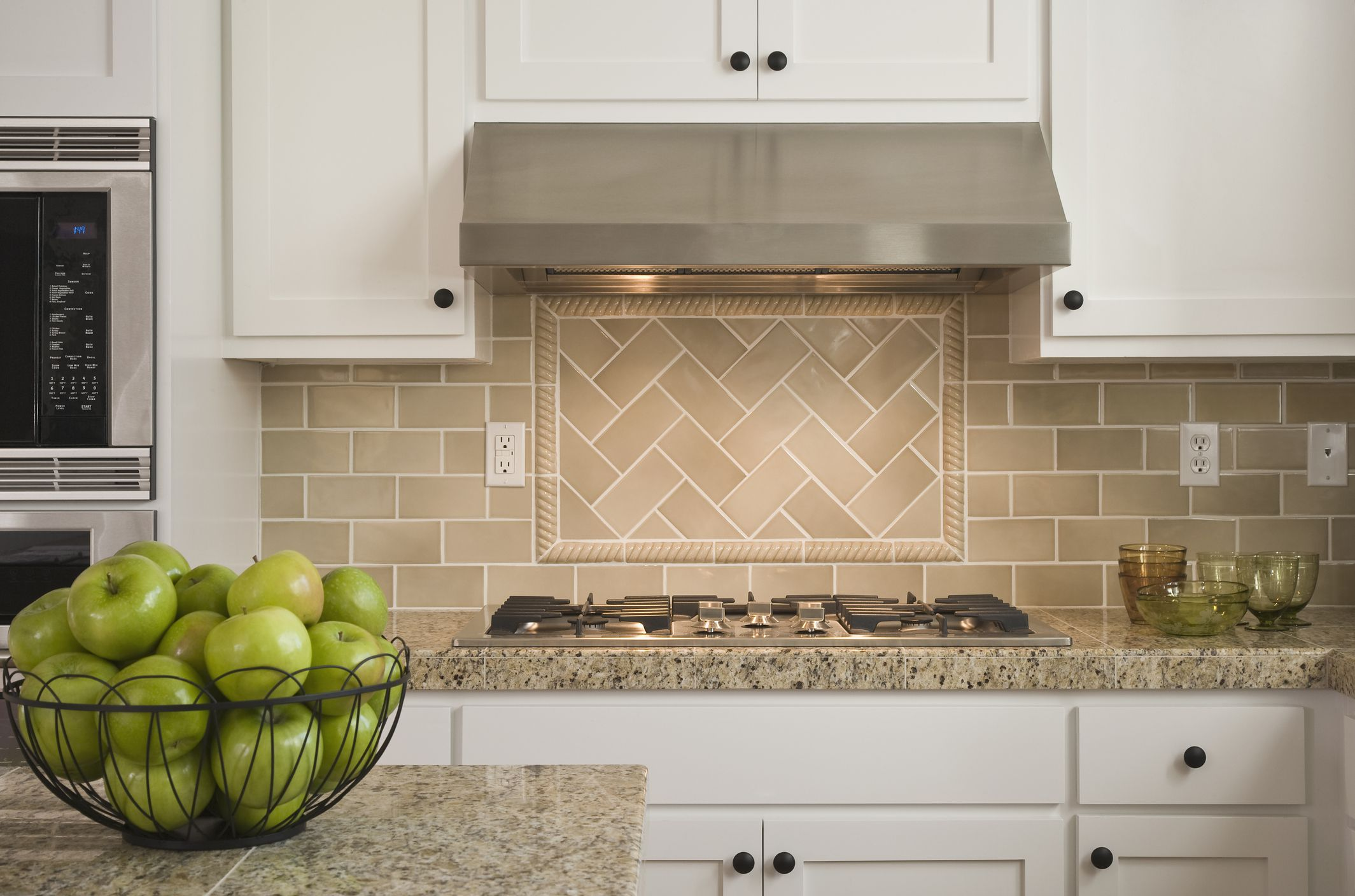 The best backsplash materials for kitchen or bathroom Ceramic tile kitchen backsplash