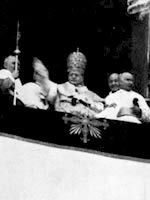 Pope Pius XI Blesses the Crowds in 1922