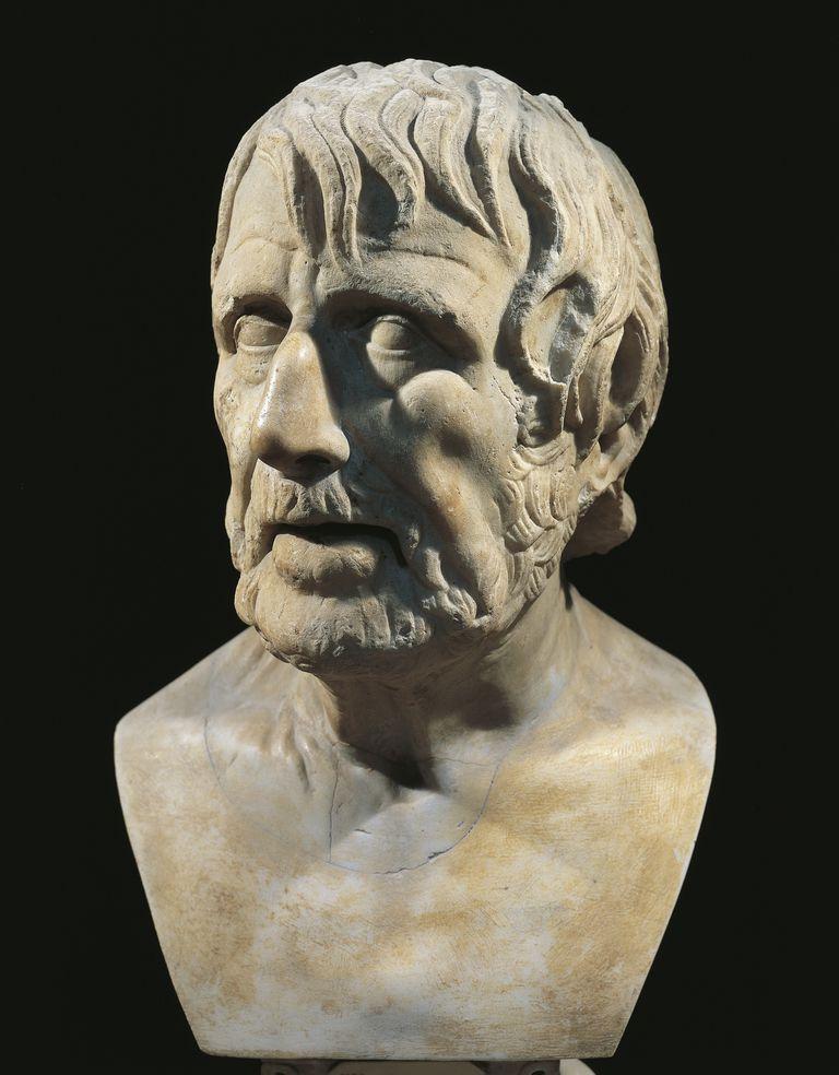 Marble bust of Lucius Annaeus Seneca (Corduba, 4 BC-Rome, 65), Roman philosopher and politician