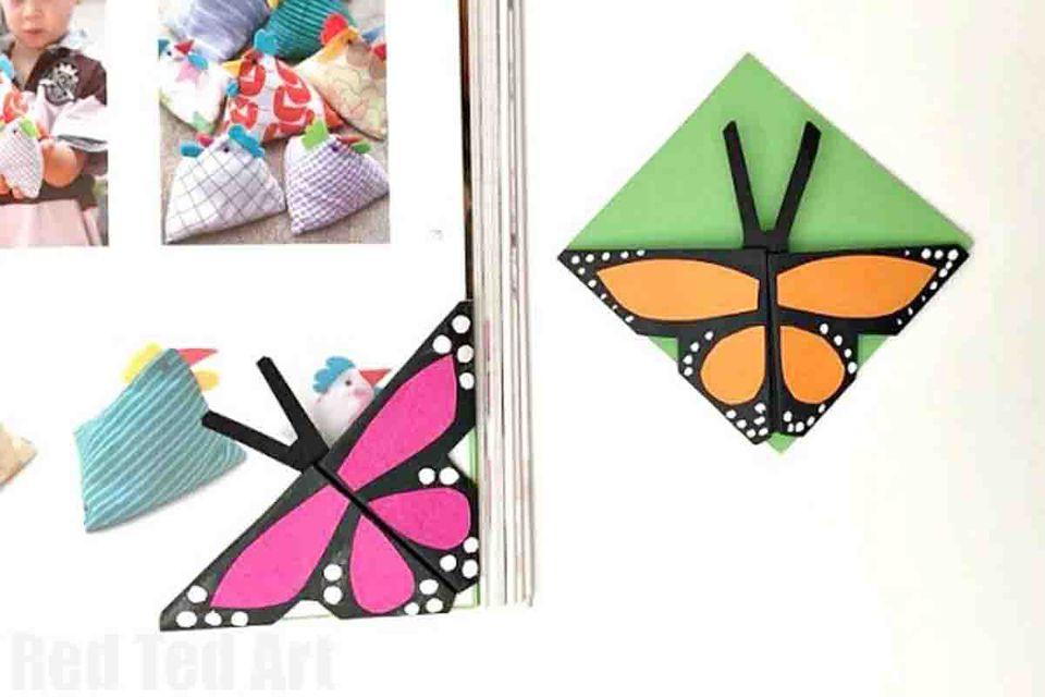 butterfly corner bookmark