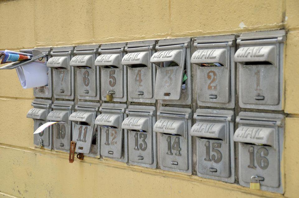 Apartment letterboxes
