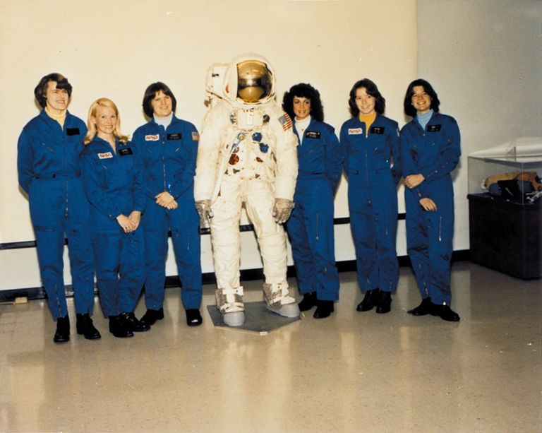 Shannon Lucid, Margaret Rhea Seddon, Kathryn Sullivan, Judith Resnik, Anna Fisher, Sally Ride