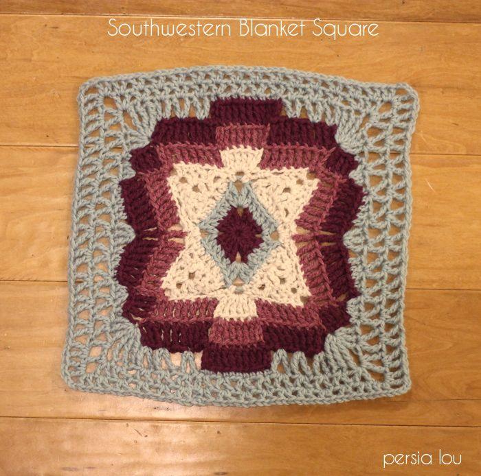 Southwestern Blanket Square Free Crochet Pattern