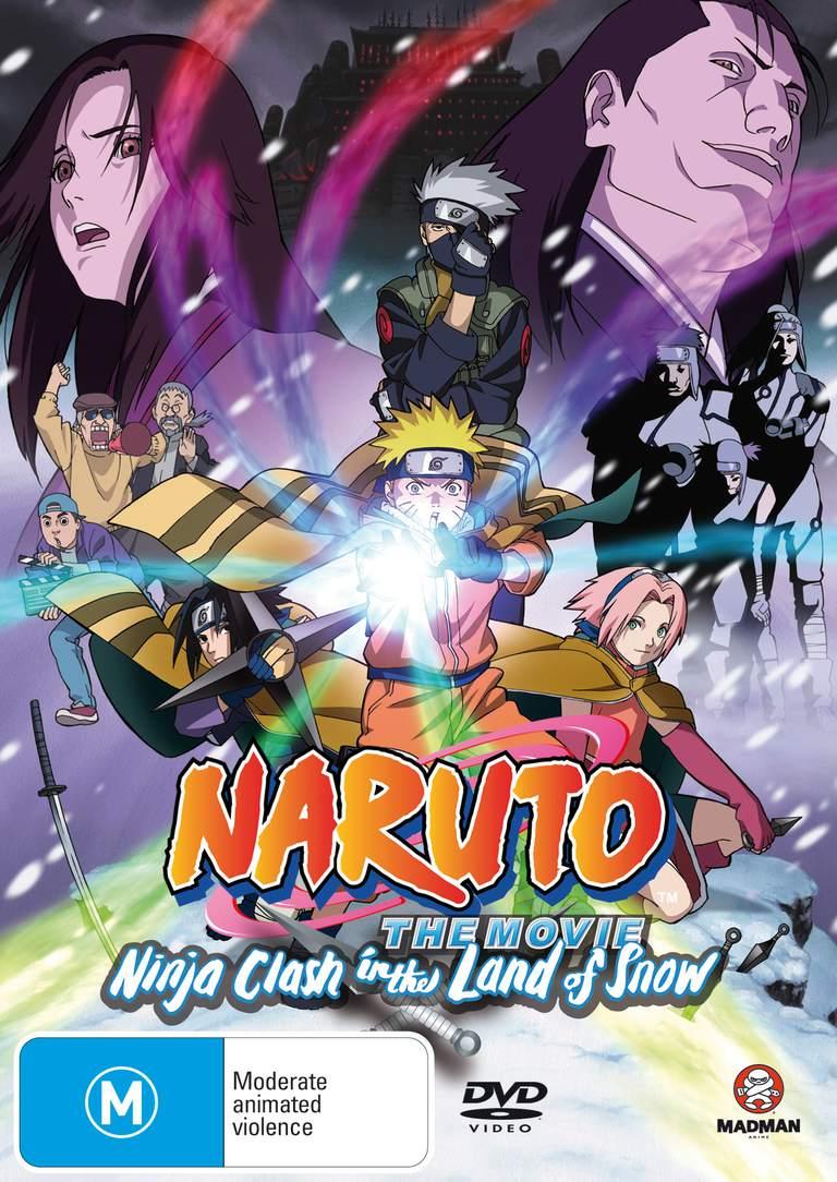 anime naruto movie: Naruto Anime Movies DVD And Blu-ray Cover Gallery