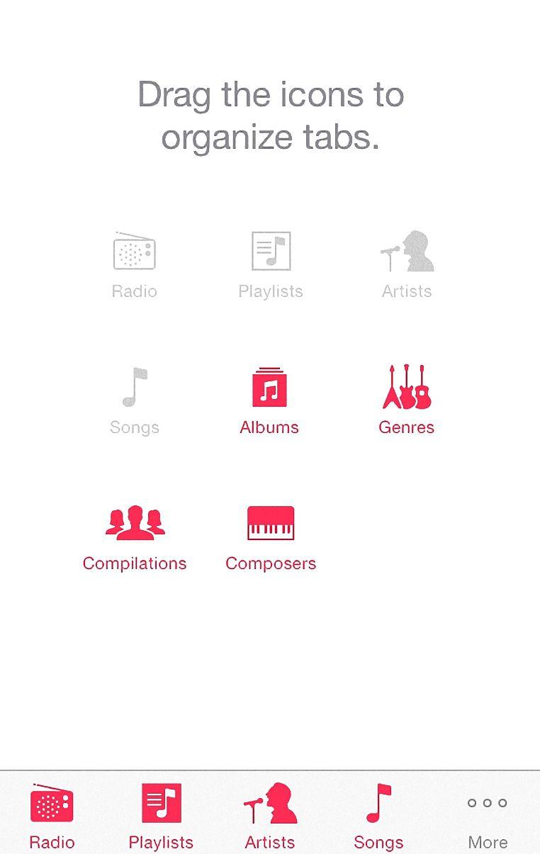 Customizing iOS music app