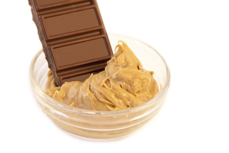 Chocolate and peanut butter come together in buckeye candies.