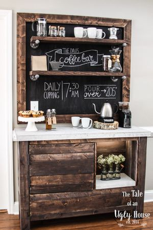 diy bar. DIY Coffee Bar From The Tale Of An Ugly House Diy