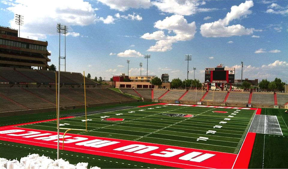 FieldTurf field (Branch Field) at the University Stadium of the University of New Mexico