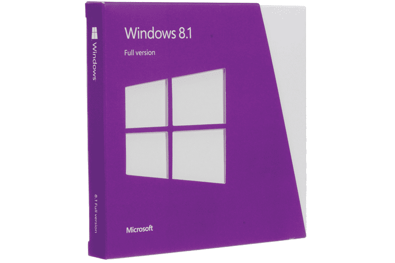 Picture of the Windows 8.1 box