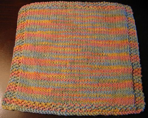 Stockinette Stitch Washcloth