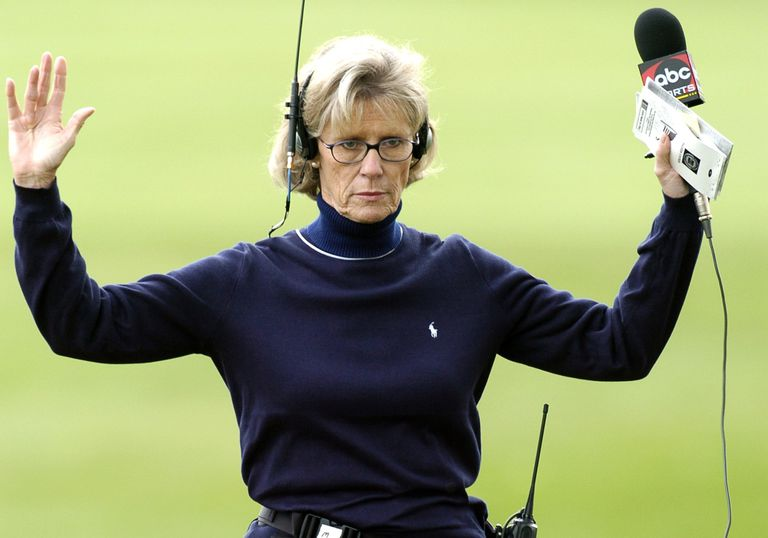 Long after her playing days ended, Judy Rankin enjoyed a career as an on-course reporter and analyst on golf broadcasts.