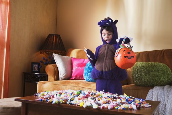 Girl with Halloween Candy