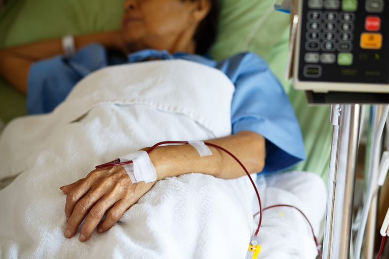 Women Receiving a Blood Transfusion