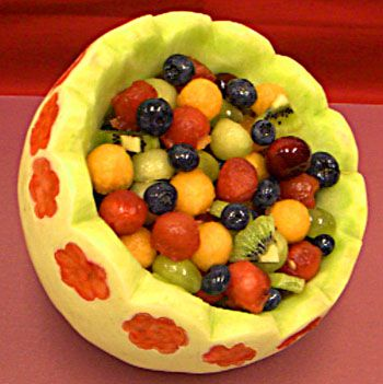 Make a Honeydew Melon Basket for a Party Decoration