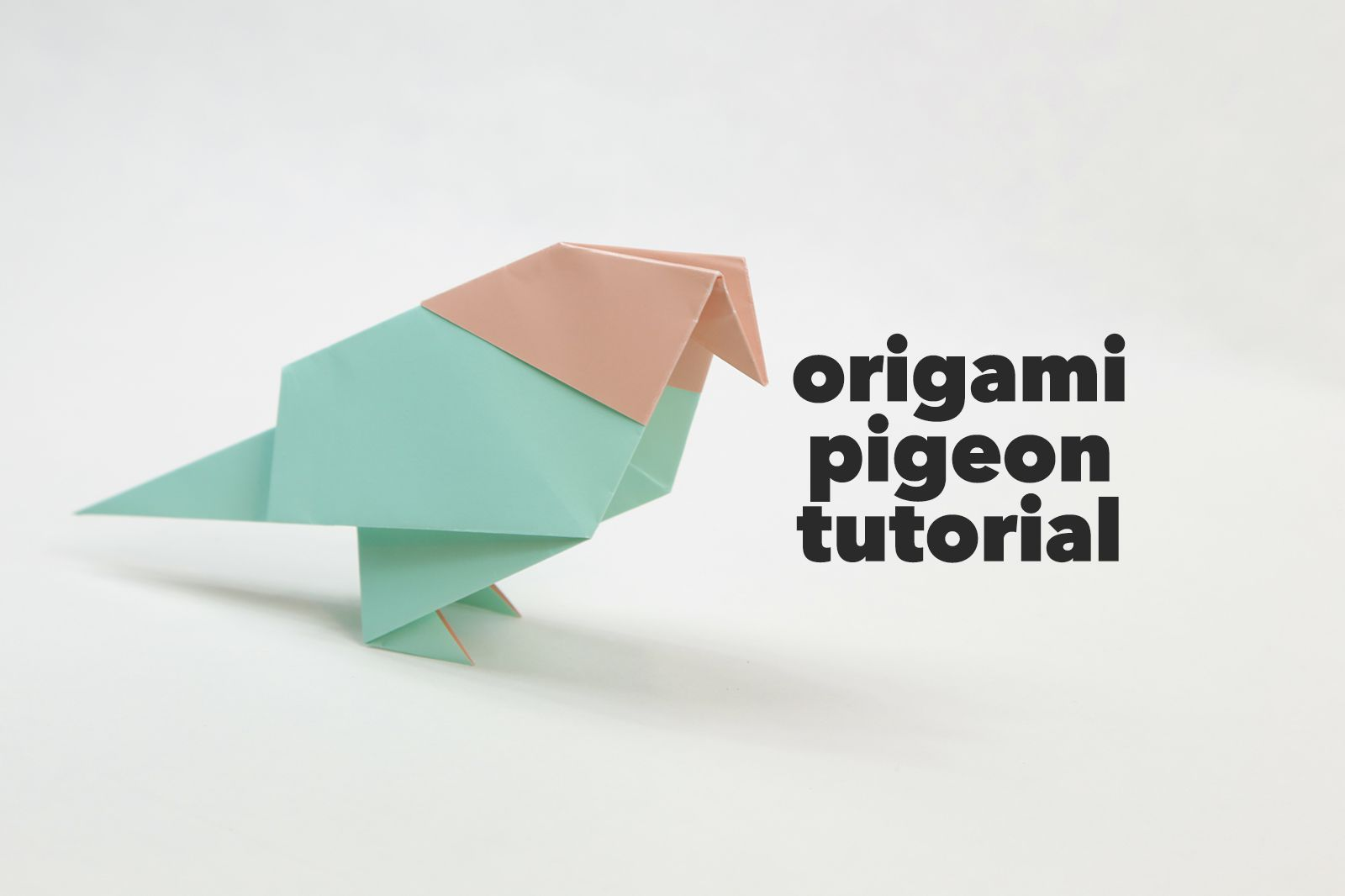 traditional origami pigeon tutorial