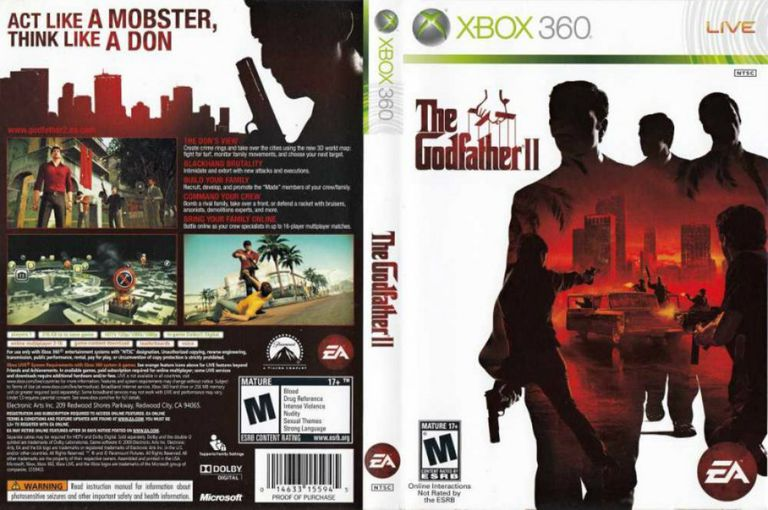 The Godfather II - Xbox 360 cover