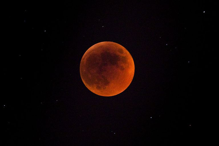 Total lunar eclipse in Jerusalem