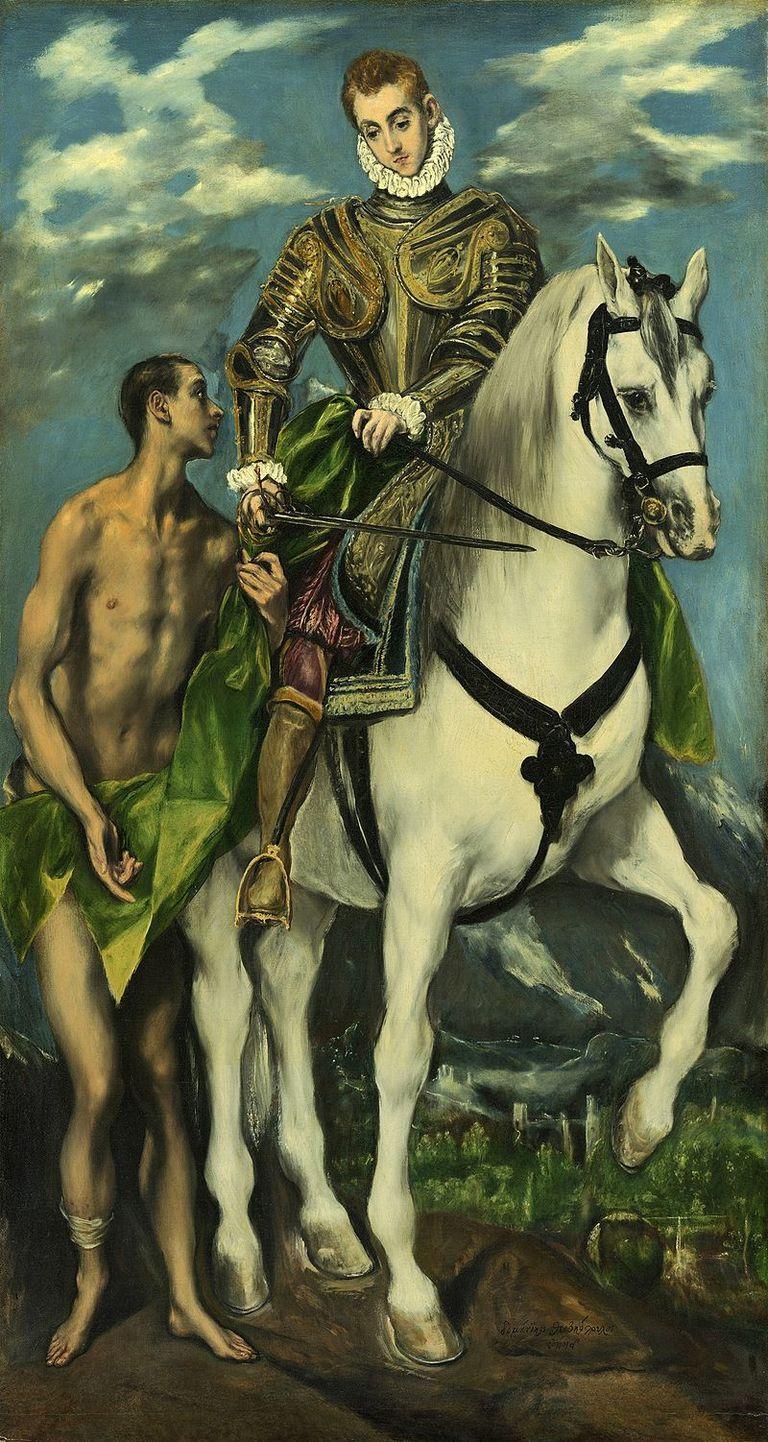 San Martín y el mendigo por El Greco