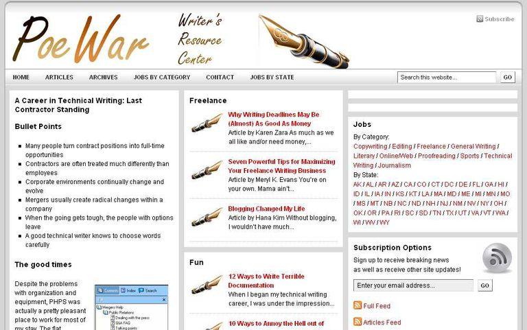 PoeWar.com的屏幕截图