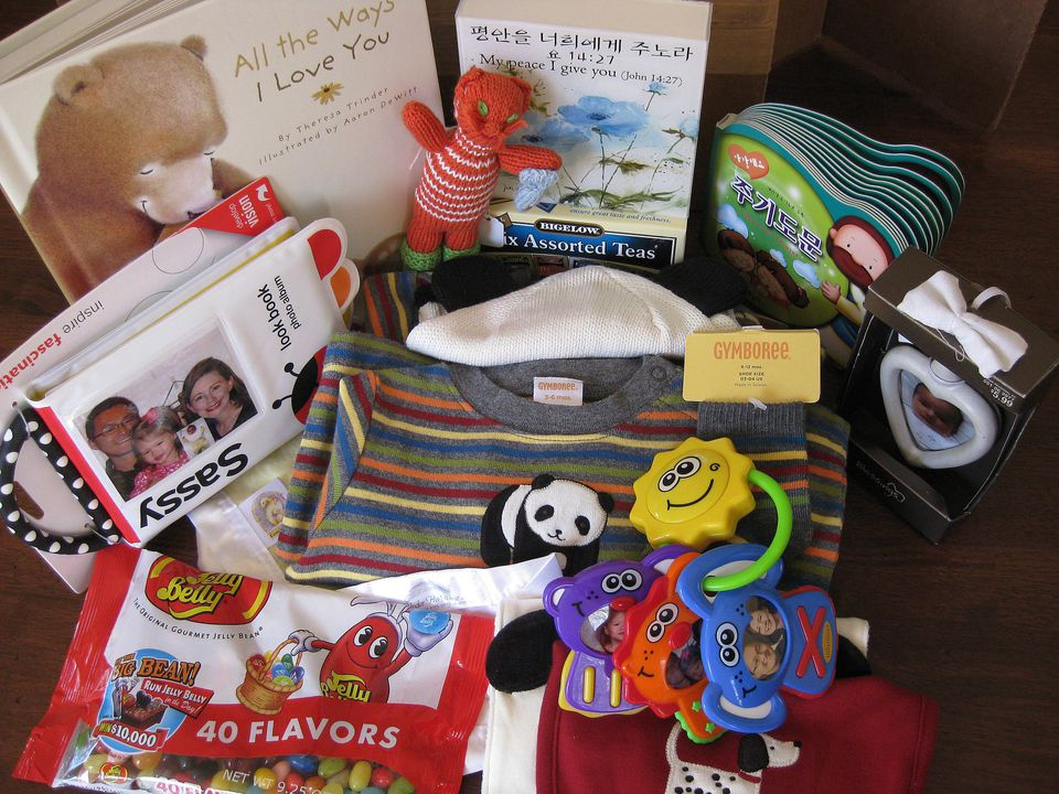 An example of an adoption care package.
