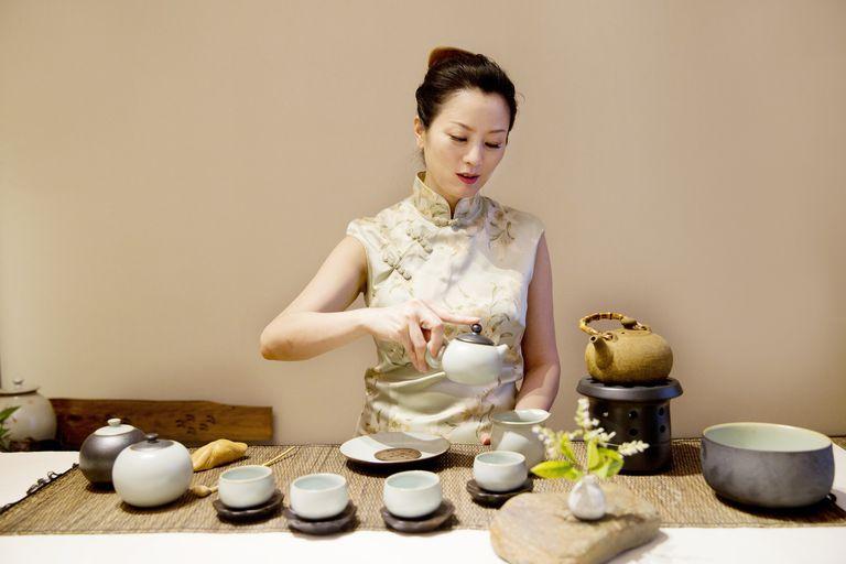 Woman Performing Tea Ceremony