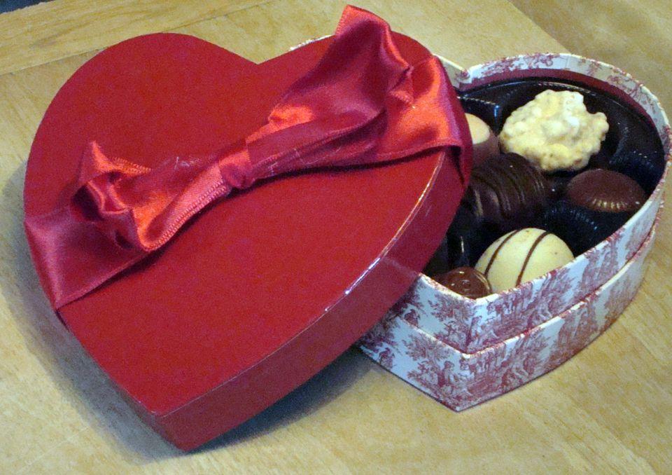 A box of Harry London chocolates