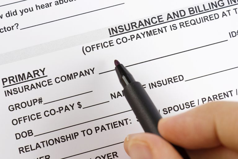 A health insurance form.
