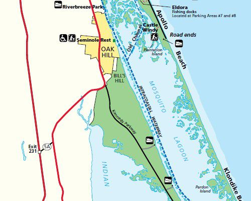 Directions And Maps For Floridas East Coast Beaches Including Mosquito Lagoon National Park Service