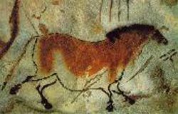 This horse depiction is an early example of Paleolithic Art.