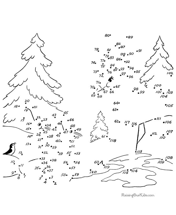 hard connect the dots worksheets a forest connect the dots