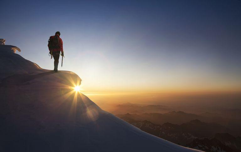 Mountain peak/goal reached