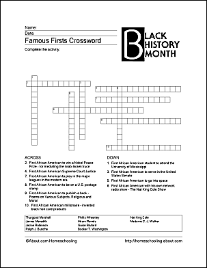 Print Off These Black History Month Worksheets