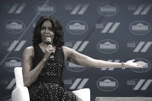 Michelle Obama at the White House Council on Women