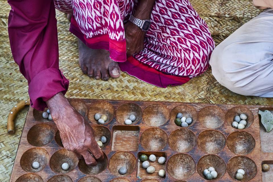 Kenya, Lamu island, Lamu town, traditional african game