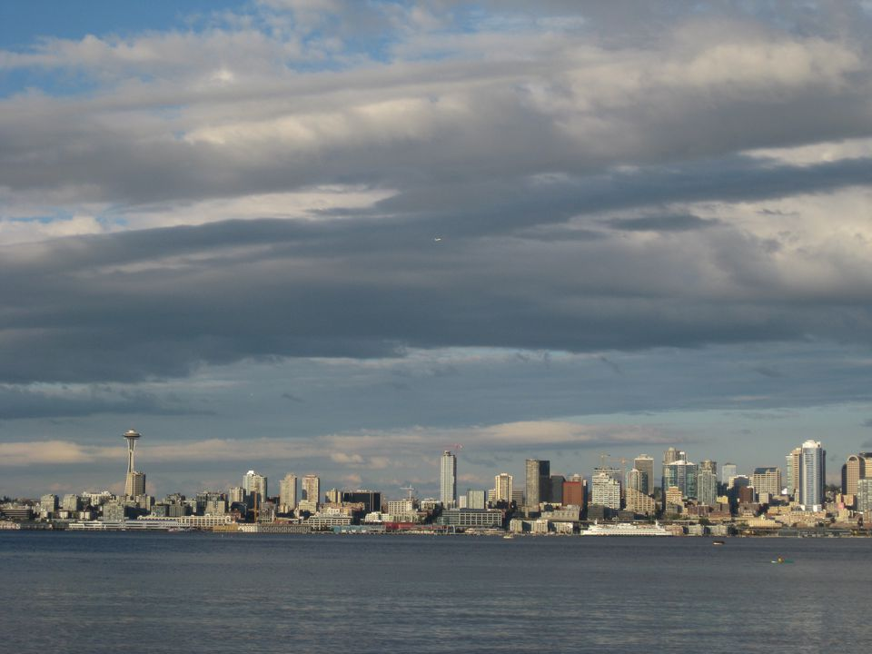 View from Salty's at Alki
