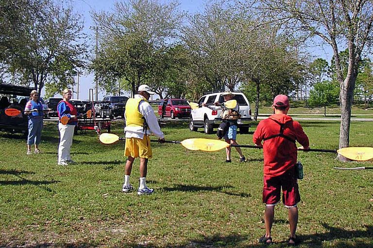 A Kayak Instructor Teaches His Class