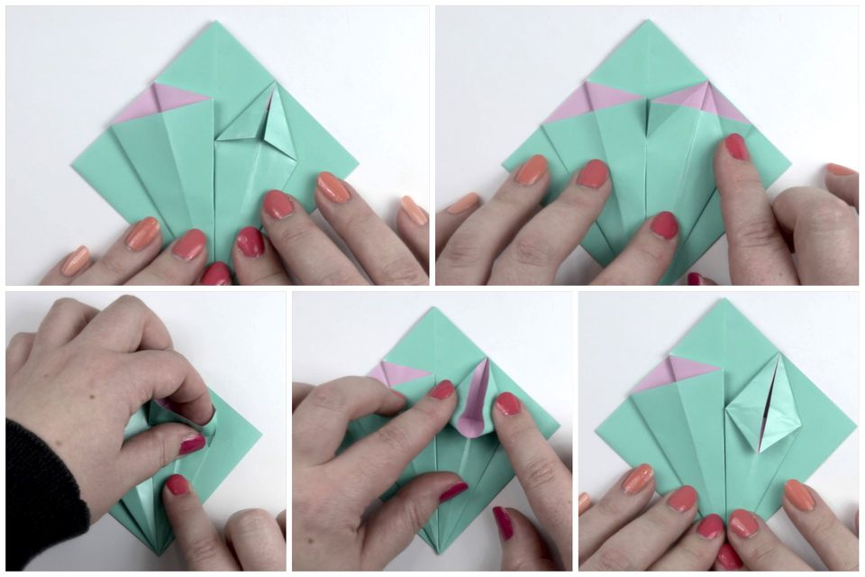 How to make an easy origami flower origami flower tutorial 05 paper kawaii mightylinksfo