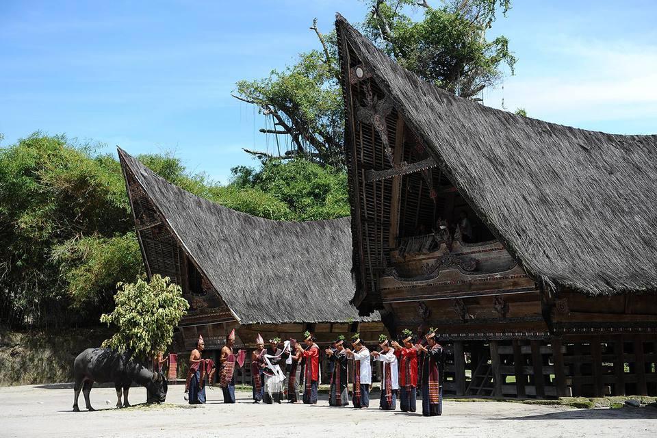 Batak Dance Group Performs On Samosir Island