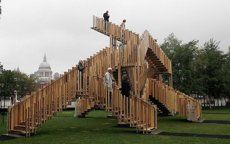 Endless Staircase Installation from the 2013 London Design Festival