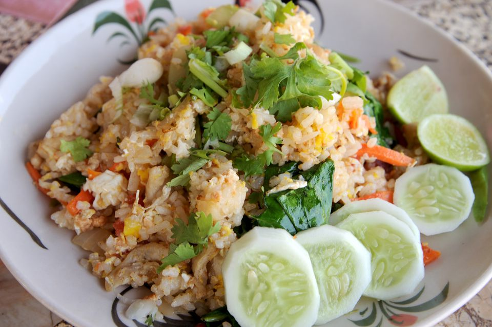 Fried rice dish.