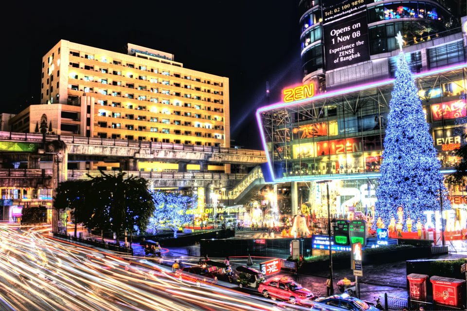Christmas light-up in front of Central World, Bangkok