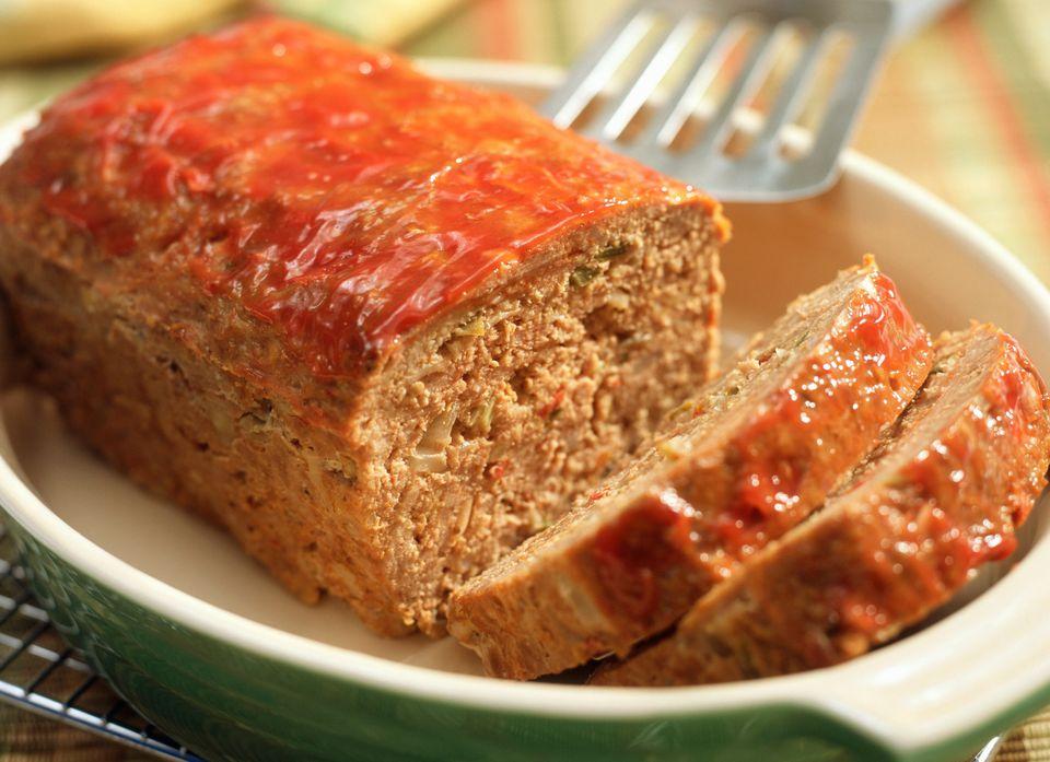 Meatloaf with ketchup glaze