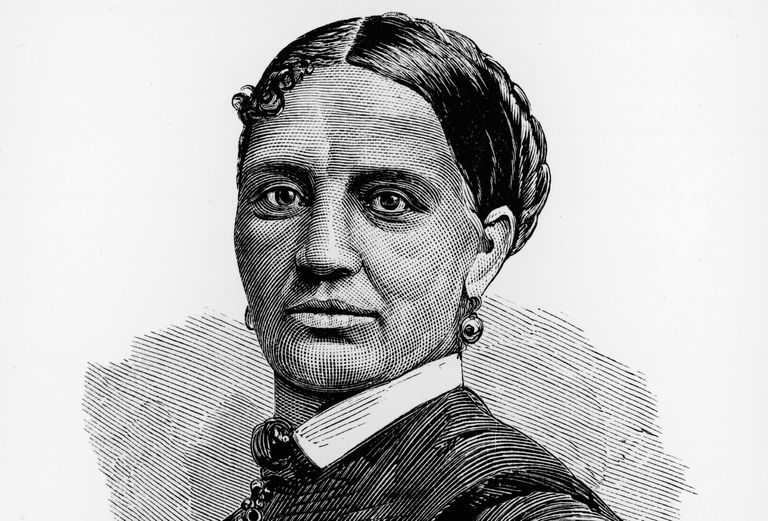 Engraved portrait of Elizabeth Keckley, friend of Mary Todd Lincoln