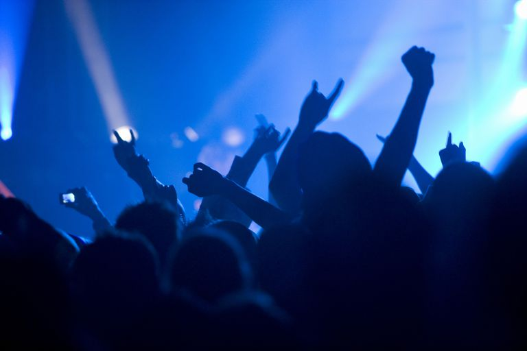 Audience at a heavy metal concert