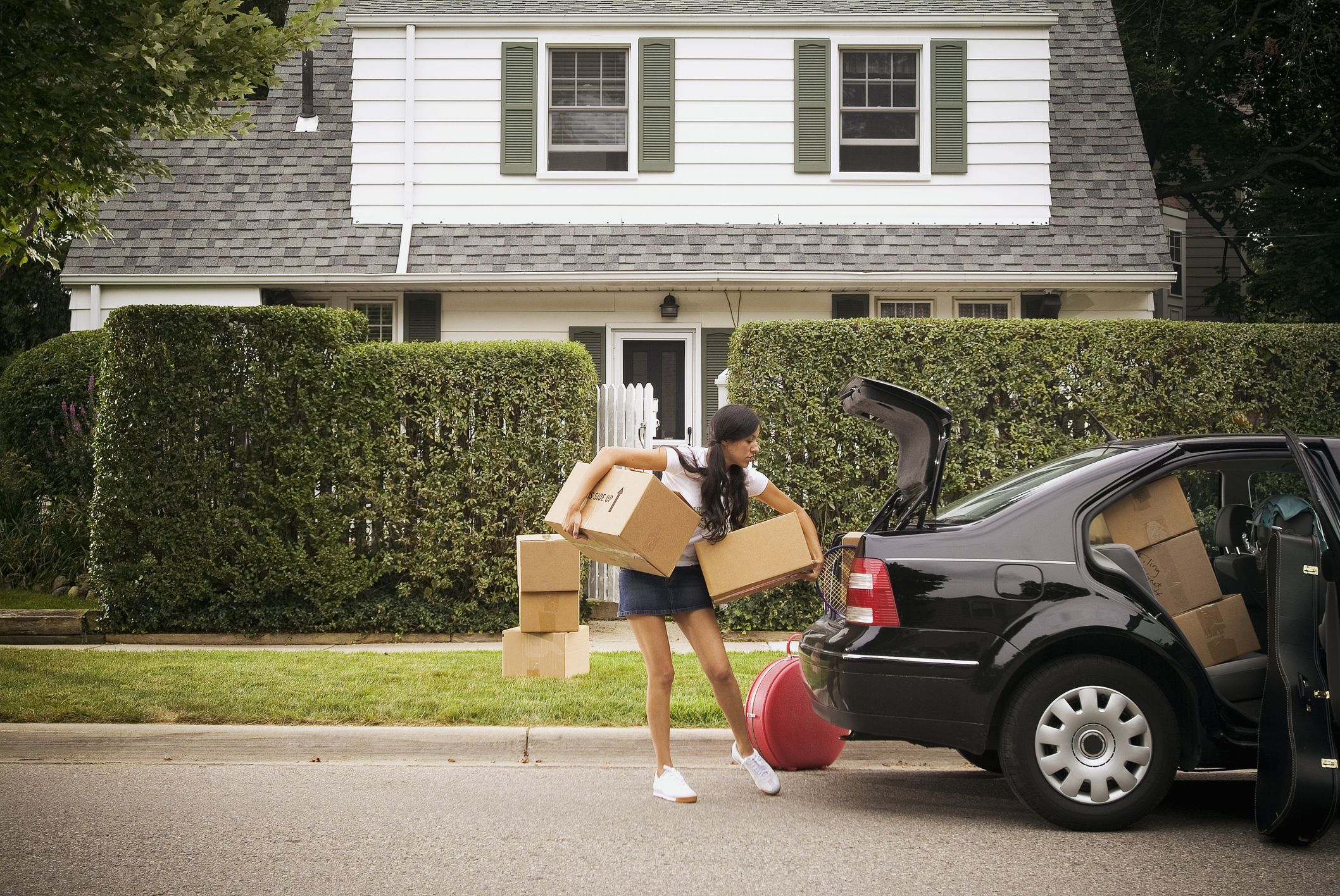 young adult moving out
